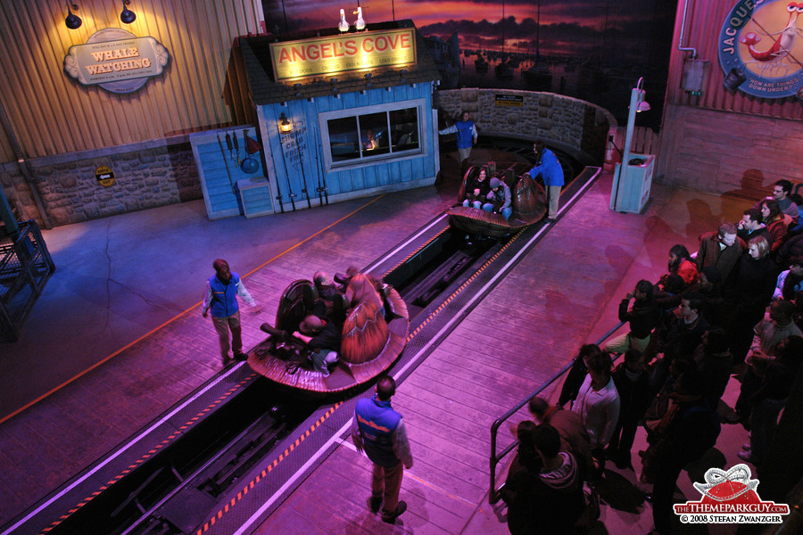 Crush's Coaster loading station