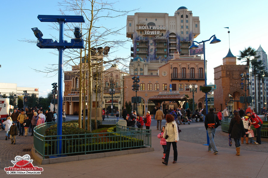 Studio street, with the Tower of Terror in the background