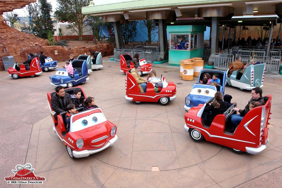 Cars-themed kiddie ride