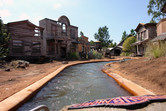 Atmospheric log flume