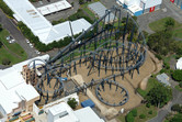 Inverted roller coaster 'Lethal Weapon'