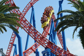 Superman coaster at Warner Brothers Movie World