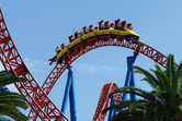 Superman coaster in action