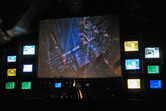 Rubber Batman in the Batman ride pre-show