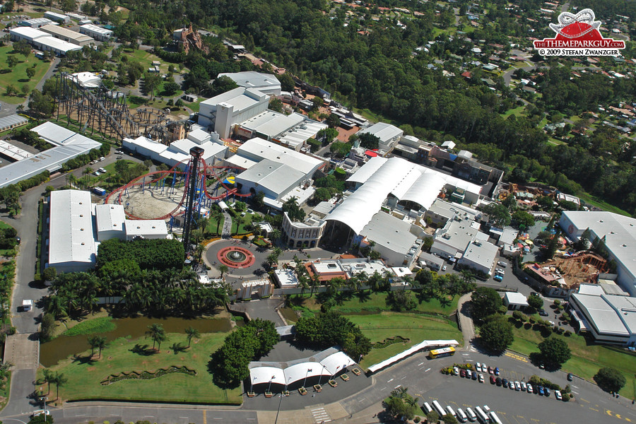 Warner brothers movie world photographed reviewed and rated by warner brothers movie world aerial view gumiabroncs Choice Image