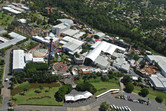 Warner Brothers Movie World aerial view