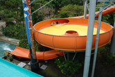 Bowl-shaped water slide