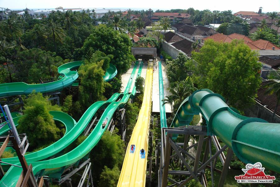Body slides and mat racer slides in Bali