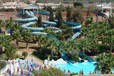 Classic water slides with enclosed sections
