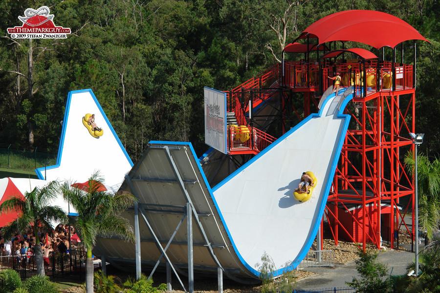 U-shaped slides