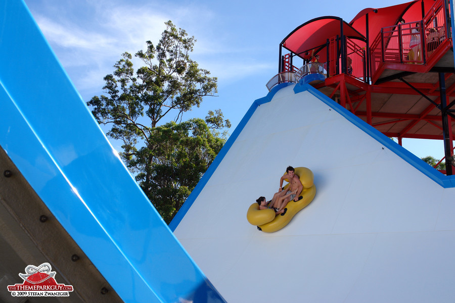 U-shaped slide close-up