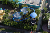 Bowl slides from above