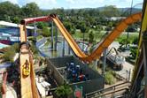 Water coaster slide