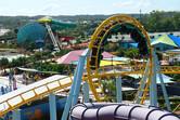 Dreamworld theme park coaster next door