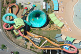 WhiteWater World slide tower aerial