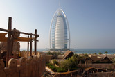 Burj Al Arab hotel seen from Wild Wadi