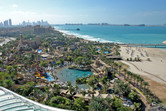 Wild Wadi water park, with Palm Jumeirah construction in the background