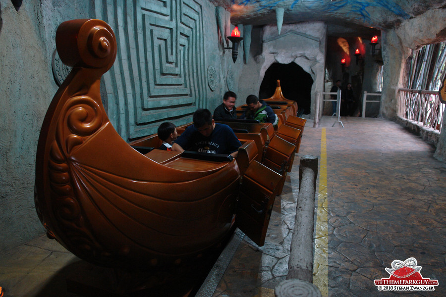 Indoor roller coaster Atlantis
