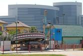 Hyatt hotel behind Wonderland