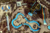Wonderland's water park section from above
