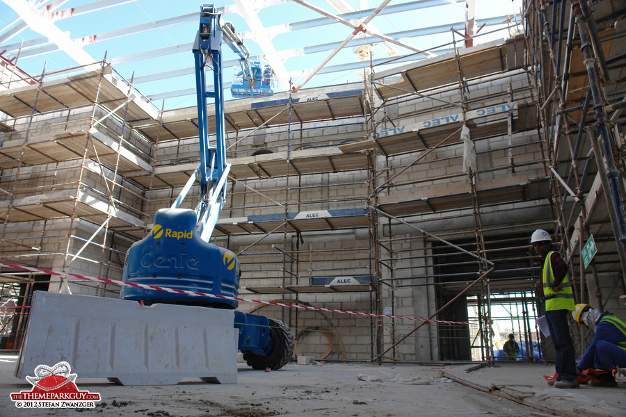 Abu Dhabi water park souq under construction
