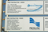 Both WhiteWater West and ProSlide will be delivering water slides