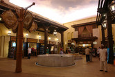 The small but charming souq at the entrance