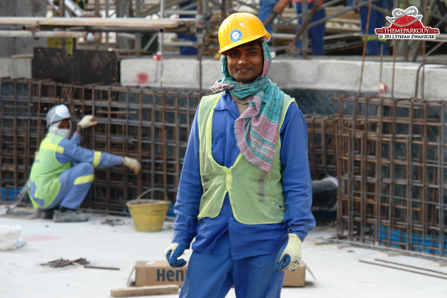 South Asian worker on site