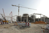 Vekoma roller coaster under construction