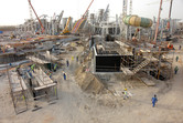 The mighty Yas Island Water Park construction site!