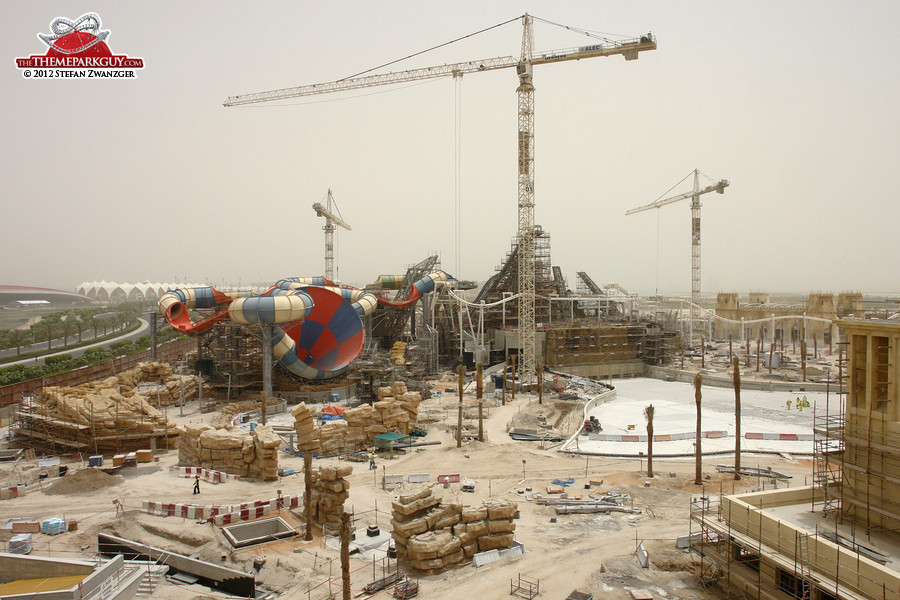 Yas Waterworld seen from the future entrance