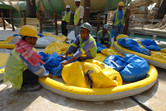 ...we inflate rafts...