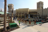Yas Waterworld souq right behind the entrance