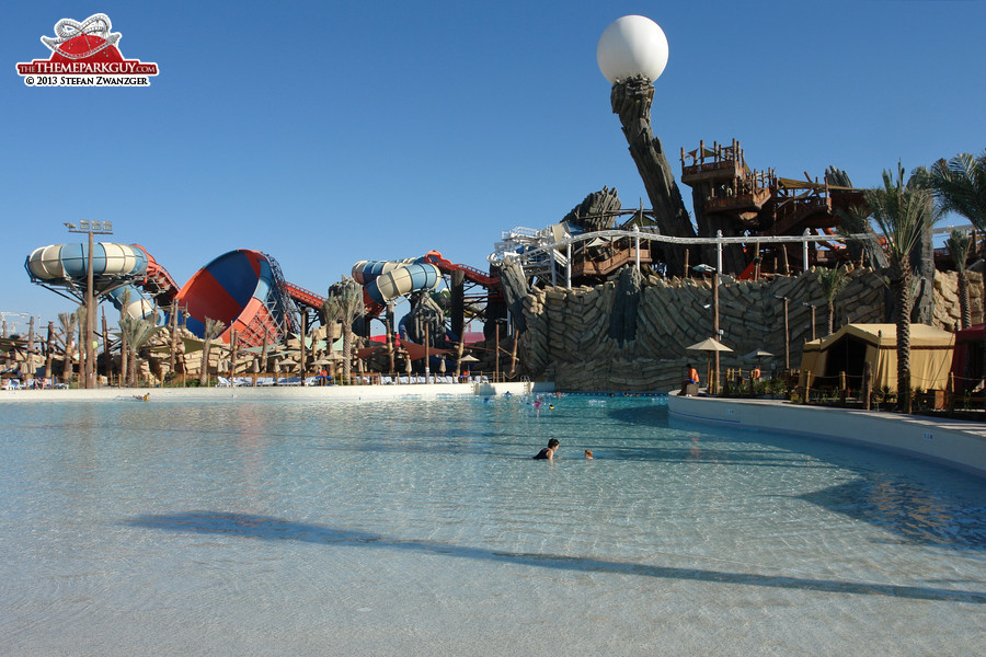 Yas Waterworld wave pool